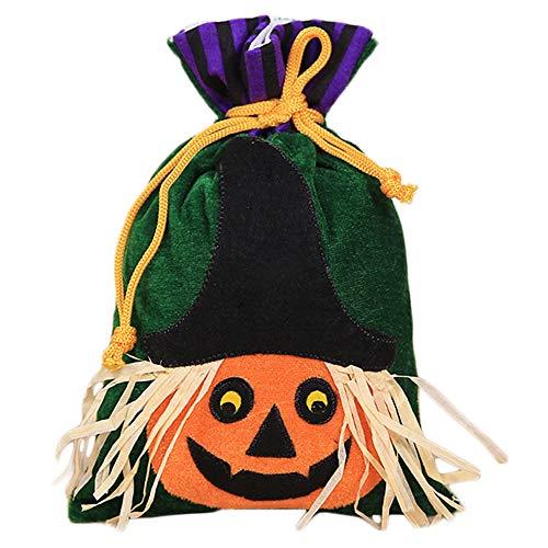eat Tote Bag Mini Gift Bag für Kinder Kürbis Hexe Katze Optional, 27 x 15 cm, Textil, Pumpkin Pattern, 27x15cm ()