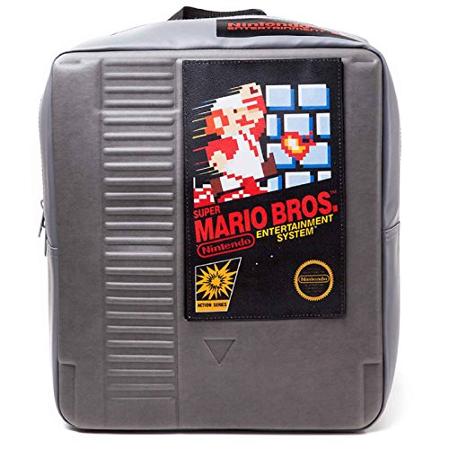 Nintendo Backpack NES Cartridge 3D Shaped retro bag Nue offiziell Grau
