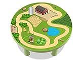 Bauernhof Möbelfolie / Aufkleber - MMR01 - passgenau für den MAMMUT Tisch (rund) von IKEA - Mit wenigen Handgriffen zum einzigartigen Spieltisch für Kinder! (Möbel nicht inklusive!!!)