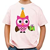 Raxxpurl Party Geburtstagseule Fun Kinder T-Shirt_rosa_158/164