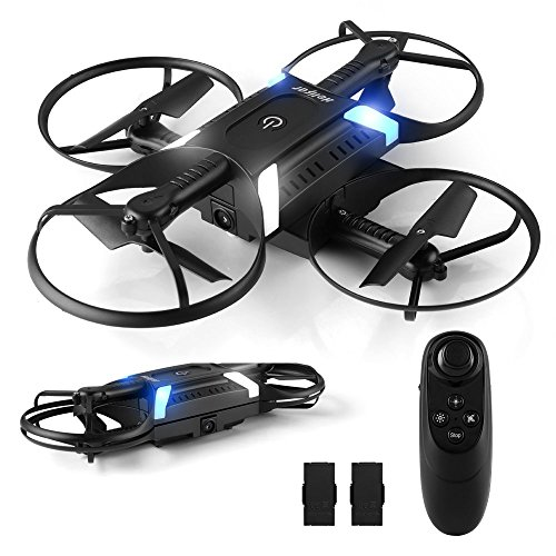 HELIFAR Drone with HD Camera App, H816 Mini Drone with 2MP Camera 720P Live Video 120º WiFi FPV, Wide Angle Foldable, Headless Mode, Return Home, 2 Batteries (Remote Control by Gravity)