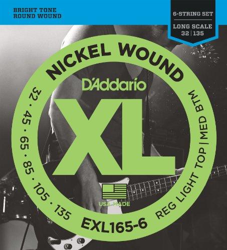 D'Addario EXL165-6 Set Corde Basso EXL