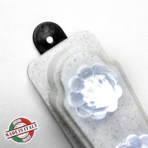 PIEFFELINE - Cruz votiva eléctrica, con 10LEDs, funciona con pilas intercambiables, 30x 23cm