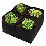 JYCRA Tessuto aiuola, Contenitore di Coltivazione da Giardino Crescere Kit Borsa fioriera Vaso per Piante, Verdure, Fiore