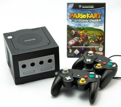 GameCube - Konsole #schwarz (inkl. Mario Kart, 2 Controller & Zubehör) (gebraucht)