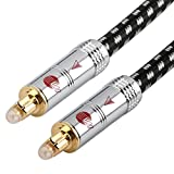 JIB Digital Lightning (BP-005-3m) Kupfer Boaacoustic, 8mm optisches Digitalkabel aus Glasfaser, schwarz/weiß, Made in Germany