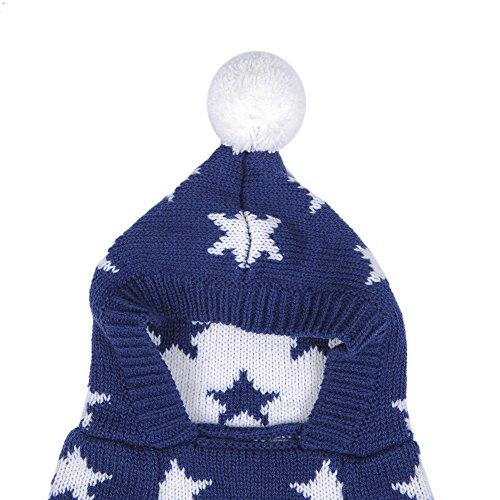 Weihnachten Winter Hunde Sweater Pullover Hundbekleidung (XXL, Blue) - 4