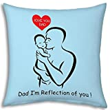 Fathers Day Gift Blue I Love You Dad 12x...