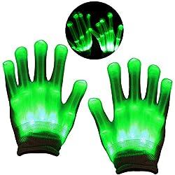 DMbaby Cadeau Fille 3-6 Ans, Cadeau Garcon 7-12 Ans LED Gants Lumineux G12