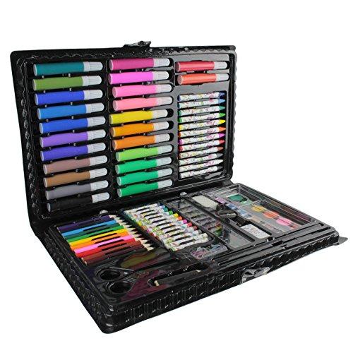malette-de-coloriage-86-pieces-feutres-crayons-de-couleurs-pastels-peintures-a-leau-pinceau-peinture