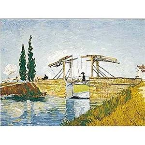 - Ediciones Ricordi 5801N09648A-Artstones Van Gogh LE PONT DE Langlois Puzzle 1000 Piezas del Rompecabezas