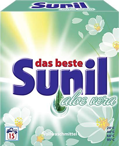 Sunil Aloe Vera Waschmittel Pulver für 15 Waschladungen 1012g