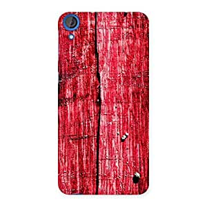 Stylish Red Fenced Print Back Case Cover for HTC Desire 820s