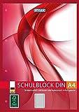 Schulblock Toppoint A4 kariert 50Blatt gelocht