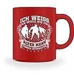 Hochwertige Tasse - Ich weiss, ich spiele wie ein alter Mann - versuch mitzuhalten! Geschenk Mann Eishockey