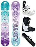 Airtracks SNOWBOARD SET - BOARD AKASHA LADY 147 - SOFTBINDUNG MASTER W - SOFTBOOTS SAVAGE W 39 - SB BAG