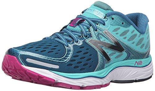 New Balance Women's 1260v6 Running Shoe, Green/Pink, 10 B US Green/Pink