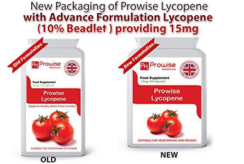 LICOPENO 15mg 90 cápsulas, Calidad garantizada GMP fabricada en el Reino Unido, adecuada...