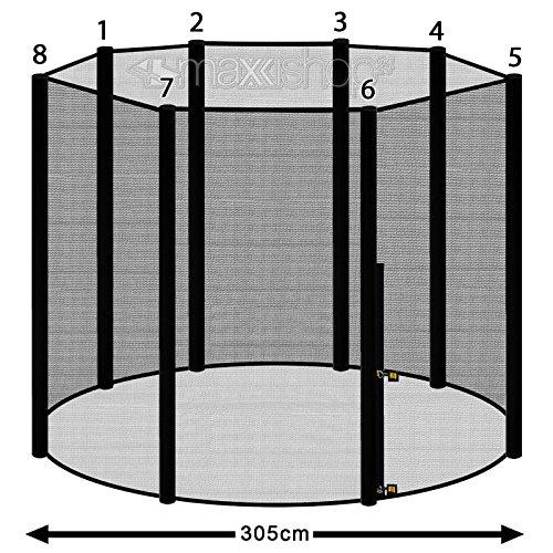 Trampolin awm® Sicherheitsnetz 10FT Ø 300 cm – 305 cm für 8 Stangensystem - 2