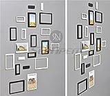 10pcs bricolaje creativo 3d pegatina de pared de madera Rectángulo marco de fotos DIY para colgar papel juego de marcos para colección?imagen para p