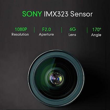 SuperEye Dashcam Auto Dash Camera Auto Autokamera Mit Bewegungserkennun G-Sensor Sony-Linse Nachtsicht Full HD 1080P Mini Dash Cam 170/°DVR Rekorder WDR Loop-Aufnahme Parkmonitor