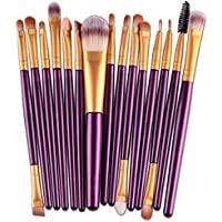 VEHOM 15 pcs/Sets Profesional Brochas Maquillaje -brochas labios facial cepillos ojos sets de pincel-Maquillaje.