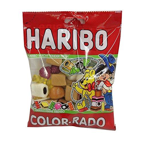 Preisvergleich Produktbild Fruchtgummi und Lakritzprodukte - Color Rado,  200g Köstliche Vielfalt der HARIBO-Spezialitäten! HARIBO COLOR-RADO ist eine Mischung der beliebtesten HARIBO-Produkte und der Klassiker unter den bereits vorhandenen Produktmischungen! Im Jahre 2010 wurde diese leckere Vielfalt durch die VAMPIRE und das KARAMELL-KONFEKT erfolgreich ergänzt.
