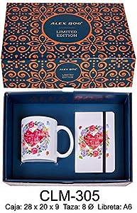 RM- Libreta y Taza mug con Mensaje,Que Seas Tan Feliz. Sets de Material Escolar (1)