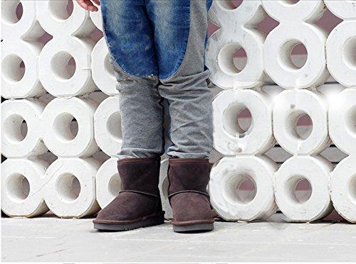 YiJee Enfants Respirant Bottes de Neige épaissir Chaud Plat Chaussures Café