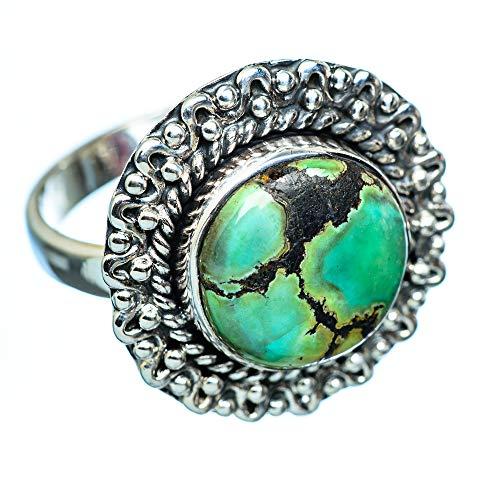 Tibetan Turquoise, Tibetische Türkis 925 Sterling Silber Ring 9
