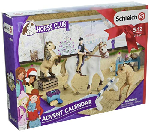 Schleich 97780 Cheval Club Calendrier de l'Avent 2018, Voir Photo
