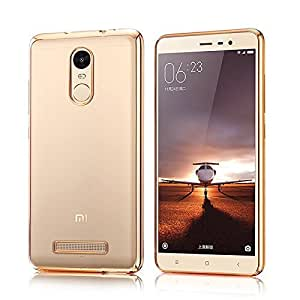 Fabson Back Cover for Xiaomi Redmi Note 4 Back Cover Case - Gold Bordered