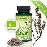 IODIO da Alga Bruna BIOLOGICA Vegavero | TIROIDE – Controllo Peso – Metabolismo | Alto Dosaggio | SENZA MAGNESIO STEARATO | 180 capsule | 100% Naturale e Vegano