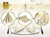 GRUBly Tischläufer Tischband Gold Ornament Hochzeit, Luxus AIRLAID, 30cm x 20m | Tischdekoration für Hochzeit, Geburtstag, Weihnachten, Party - 2