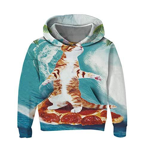 Característica:    Patrón elegante:   Nuestro jersey de impresiones en 3D tiene lobos, gatos, unicornios, cubos, dinosaurios y más patrones divertidos    Transpirable y cómodo:   Estas sudaderas con capucha 3D están hechas de poliéster y algodón,...