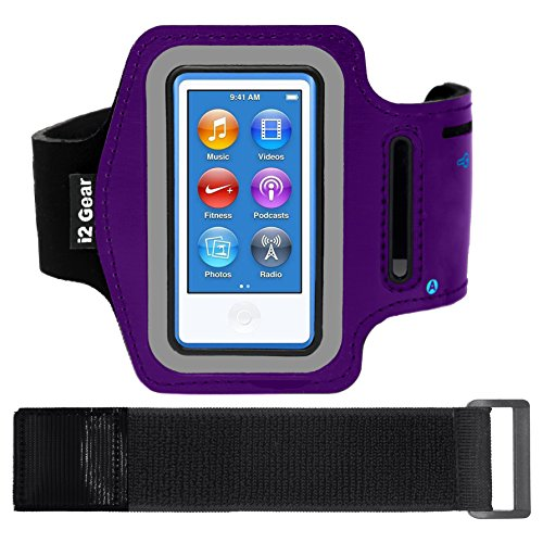i2 Gear Armband Case für Apple iPod Nano 8 G - Schwarz Matt, Purple Matte 8g Ipod