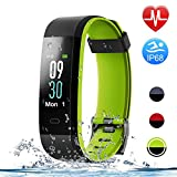 HolyHigh Smart Bands, 115C Fitness Watch IPX68 Waterproof Colorful Screen Heart Rate Sleep