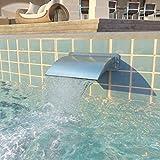ghuanton Fontana per Piscina in Acciaio Inossidabile 30x9x26 cm Argento Casa e Giardino Arredo Fontane e laghetti Fontane e cascate Ornamentali