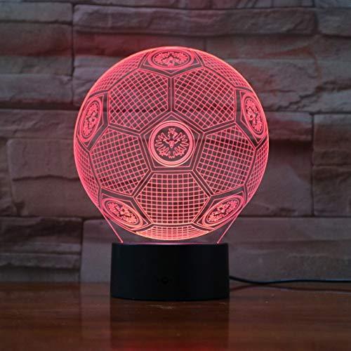 Bundesliga Fußball Team Fc Eintracht Frankfurt 3D Illusion Led Nachtlicht Jungen Kinder Baby Geschenke Fußball Tischlampe Nachttisch