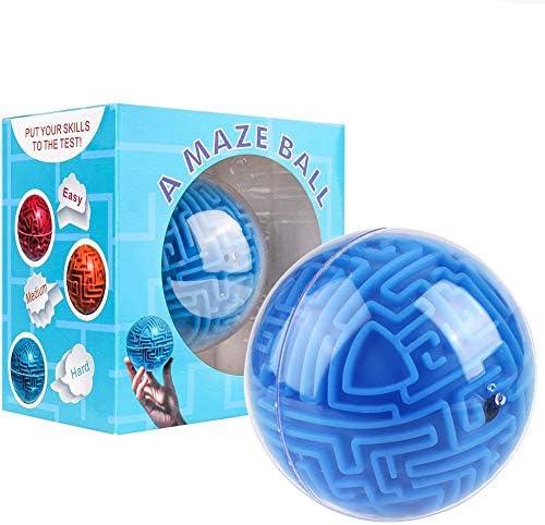 Mini Boule de Puzzle de Labyrinthe Labyrinthe Labyrinthe Magique en 3D, Cube de Jeu Globe Sphère en Vrac Labyrinthe Jouets, Intelligence Idea Maze Jeu de Jouets Défis Difficiles Cadeaux pour Les  s | Techniques Modernes  a6af9d