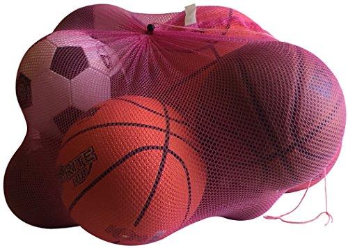 NewEarthProducts Mesh Sport Ausrüstung Tasche, Set von 2Staubbeutel (Hot Pink, 36x 24)
