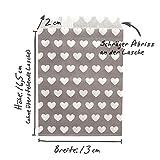 100 Frau Wundervoll Papiertüten Mix türkis, 4 Designs zu je 25 Stück / Geschenktüten / Candy Paper Bags