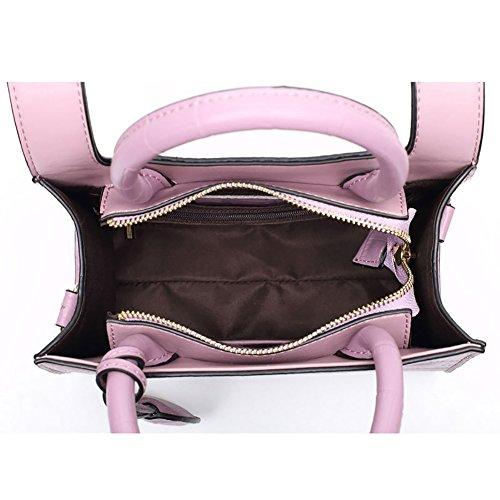 Mena UK Pelle sintetica femminile Alta capacità Barra morbida Soft color Grande borsa da viaggio e borsa a tracolla ( Colore : Rosa , dimensioni : 23.5cm*19cm*11cm ) Viola