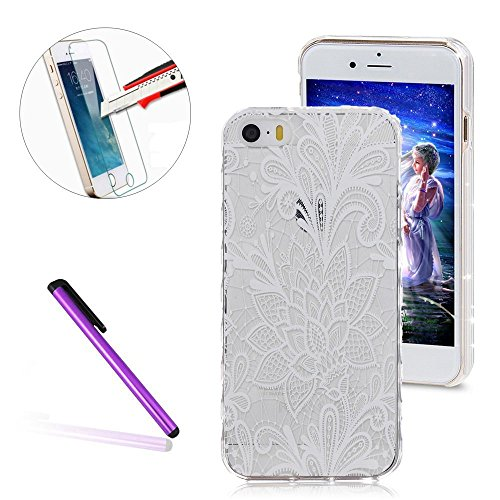 iPhone 6S Hülle,iPhone 6 Hülle,iPhone 6S Case,EMAXELERS Christmas Series Hard PC Case Phone Holster Transparent Handy-Tasche Hülle Cute Santa Claus Muster Glitter Flowing Bling Hülle Etui Schale Case  D White TPU 9