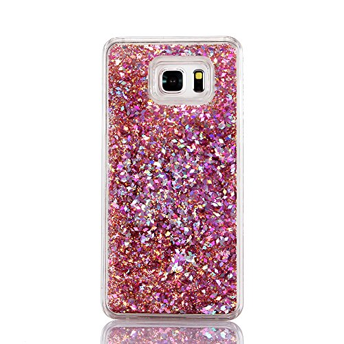 all, liujie Liquid Cool Quicksand beweglichen Stars Bling Glitzer Floating Dynamic Fließende Fall Liquid Cover für Samsung, ZS 4# ()