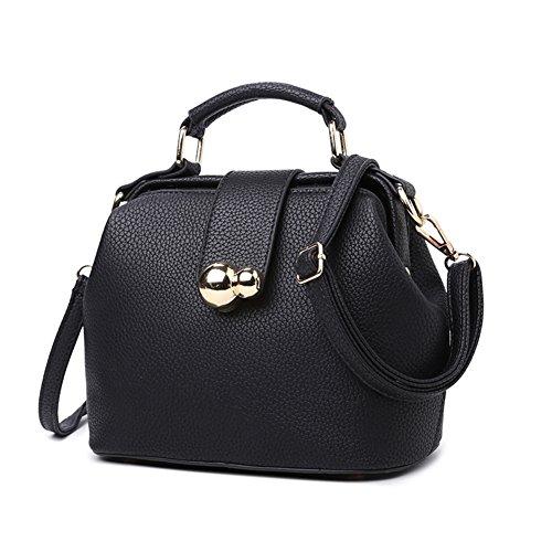 Messenger Bag Lady Fashion/borsa a tracolla semplice/Pacchetto pulito mobile-Nero Nero