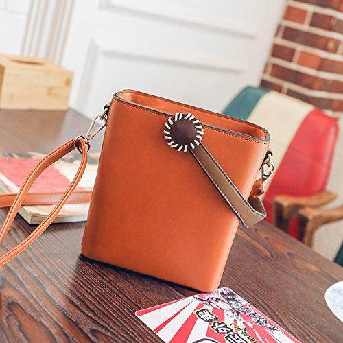 Weibliche mode platz Persönlichkeit paket kleine quadratische damen handtasche hellbraun