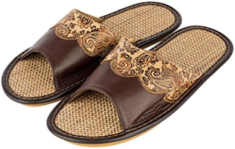 Haisum Tb003-m - Zapatillas de estar por casa de Piel Sintética para hombre -