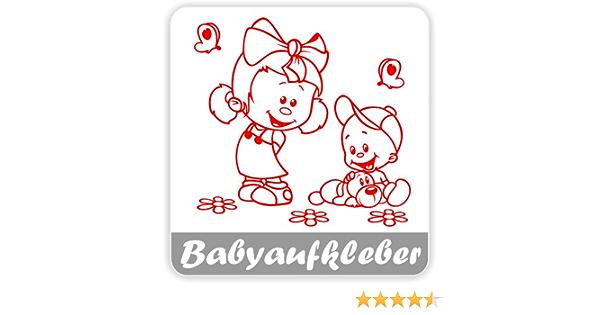 Babyaufkleber Geschwisteraufkleber Für Auto Mit Wunschtext Gs 17 Baby