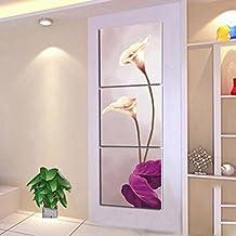 Pintura decorativa de la sala de estar moderna Pintura vertical de la sección vertical triple Pintura sin marco ( Tamaño : 40*40*2.5cm )